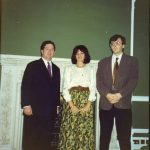 Лондон, октобра 1990. Престолонаследник Александар, Даница Драшковић и Милослав Самарџић