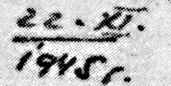 Датум на оригиналном Калабићевом писму