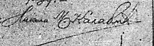 Фалсификован Калабићев потпис