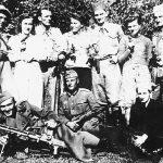 Партизани Љубићког одреда са немачким војником