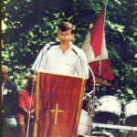 Бинбрук код Хамилтона, црквено имање на коме је Организација српских четника ''Равна Гора'' обележавала Дражин дан. Те године, 1991, био сам главни говорник