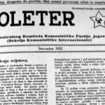 ''Пролетер'' из 1932. године, у коме КПЈ поздравља усташки покрет