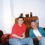 Београд, 1999. Милослав Самарџић и Драгован Радуловић, официр Гарде