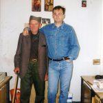 У редакцији ''Погледа'', негде око 1998. Мијалко Перишић из Косјерића, четник Пожешког корпуса, и Милослав Самарџић