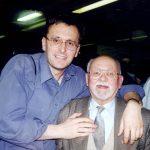 Милослав Самарџић и капетан Урош Шуштерич из Љубљане, на сурчинском аеродрому, док смо чекали Кента