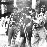 Чланови америчке војне мисије снимају документарни филм о генералу Дражи Михаиловићу, септембра 1944. године