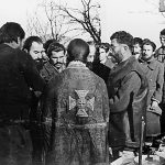 General Mihailovic during the service on his patron saint day (St.Nicholas) on December 19, 1943.