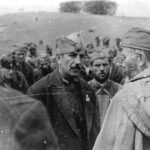 May 1944, Ravna Gora. General Mihailovic with officers