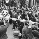 ''Шпански борци'' прелазе југословенску границу, а нацисти их поздрављају испруженом руком