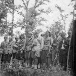 Штапска чета Голубићког батаљона на прослави Спасовдана у Плавну 1944. године
