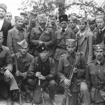 General Mihailovic with Bosnian Chetniks. Oktobar 1944.