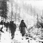 General Mihailovic. Bosnia, winter 1944-45.