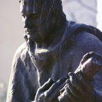 Споменик Јоакиму Вујићу испред истоименог првог српског позоришта