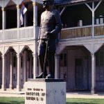 Споменик Краљу Александру Ујединитељу испред Соколане у насељу Ердоглија