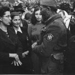 Дража са равногоркама у селу Кожухе код Добоја, октобра 1944. Прва лево, са наочарима, је Љиљана Лалић, сестра сеоског учитеља и члана четничке организације Василија Лалића, родом из Црне Горе