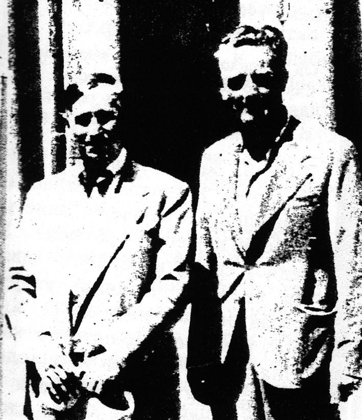 Јован Дучић и Петар Бубрешко у Риму 1937. године