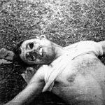 Тела италијанских војника заробљених на мотору. Партизани су их мучили. Тела су затечена са одсеченим полним органима и ископаним очима