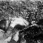 Тела италијанских војника које су партизани заробили и исекли на комаде
