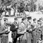 Подумски четници 1943. Смотра пред полазак у акцију