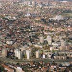 Крагујевац, у првом плану Лепенички булевар, у даљини насеље Аеродром