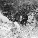 Извлачење лешева из једне јаме у Плешивцима, срез Никшићки, у лето 1942. године, после завршеног чишћења терена од комуниста и проналаска јама, у које су комунисти бацали прваке овог племена у току зиме 1941/1942.