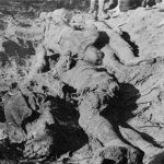Лешеви четника које су комунисти побили и искасапили, непосредно по откопавању масовне гробнице