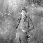 Мајор Бил Хадсон, члан британске војне мисије, са четницима од 1941. до 1944. године. Снимљено на Златибору