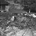 Село Пријевор код Чачка, 1943. године. Раковићева родна кућа, пошто су је спалили Немци