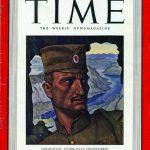 """Генерал Дража Михаиловић на насловној страни """"Тајма"""" 1942. године. Те године у западној штампи Дража је био један од три најхваљенија савезничка команданта"""