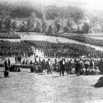 Други равногорски корпус прославља српску војничку славу Видовдан, 28. јуна 1944. године, у селу Лазац, на планини Јелици