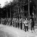 Чета Јовице Диклића, из састава Личкокордунашког корпуса, у Бистрици, Словенија, почетком 1945. године