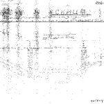 Скица трећег моста код Мокре Горе, који су четници срушили 29. септембра 1943. године. Комунисти су после рата уништавали доказе о борбама четника против окупатора. Међутим, пошто на овим скицама пише да је извршилац непознат, остале су сачуване у Народном музеју у Ужицу