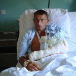 Рањени Ђорђе Угреновић (20 година) у болници у северном делу Косовске Митровице