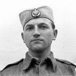 Капетан Душан Лазаревић, начелник штаба 2. равногорског корпуса. Ђак генерације Краљевачке гимназије. Убијен од комуниста у ваљевском затвору