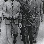 Богдан Милутиновић и Влатко Р. Пашић (унук Николе Пашића) у шетњи београдским улицама
