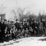 Јуришна чета у Шкарама 1942. У средини, са шубаром, командант капетан Сергије Живановић