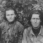 Припадници Гатачке бригаде Милимир Пјешчић, командир чете, и Милорад Бошковић. Пјешчић је погинуо у борби против Немаца 1944, приликом напада на Требиње. Бошковић је робијао под комунистима, данас живи у Сенти