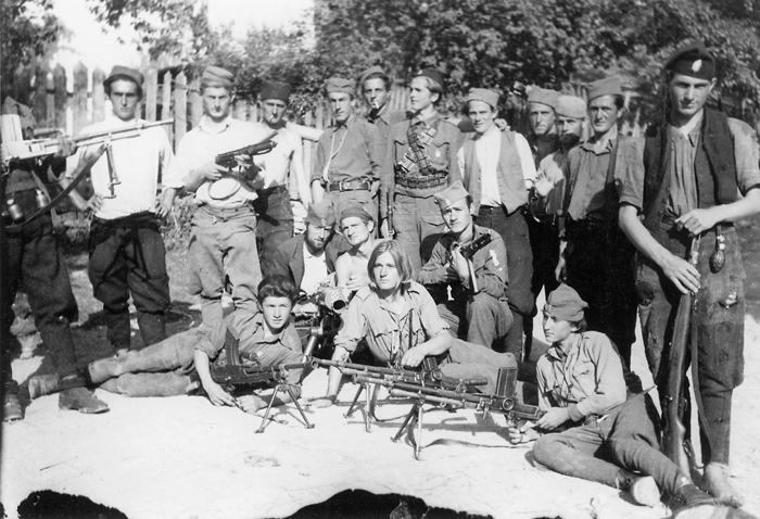 Борци 5. јуришног корпуса капетана Милоша Марковића у Топлици