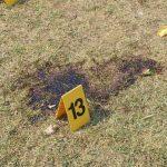 Крв Ивана Јовића (19), који је убијен на лицу места од стране албанских терориста