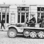 Крушевац, 14. октобра 1944. године. Немци беже из града док четници надиру са друге стране