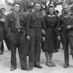 Свадба у логору Еболи, 1946. На слици је млада, Јелка Бракус, удата Пухар, са својим комшијама: Јанком, Бранком и Вељком Бракусом, сви из Залужница у Лици. У Бранковој кући, усташе су 15. јула 1944. спалиле свих 13 породица Бракус. Јелка је успела да побегне из запаљене куће. Изродила је деветоро деце, живи у Чикагу. Из запаљене куће истрчао је и Бранко, носећи своје мушко дете, али је оно смртно погођено. Бранко је умро у Енглеској, Вељко такође, а Јанко живи у Лондону