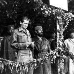 The British captain was Peter Maynard. On his right is commander Major Rakovic