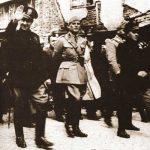 Италијански нацисти и њихови Албански савезници парадирају окупираним Косовом 1941.