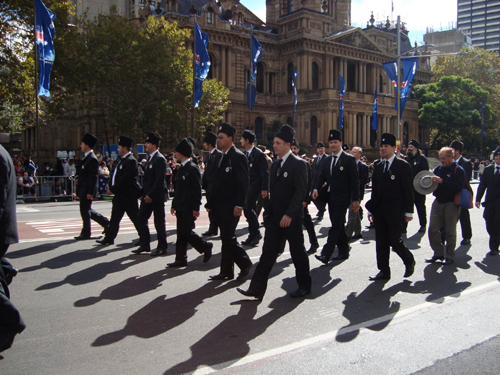 Anzac Group Marching