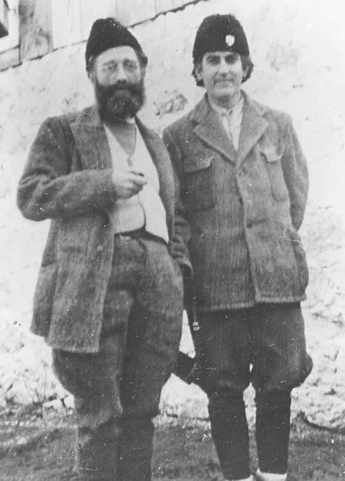 Генерал Дража Михаиловић и пуковник Петар Баћовић, командант Источне Босне и Херцеговине, децембра 1942. у Липову