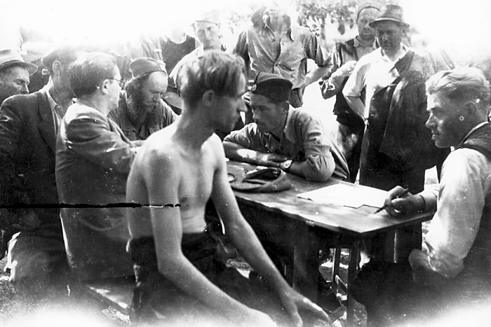 Лекарски преглед и регрутација: Група жичких бригада, околина Краљева