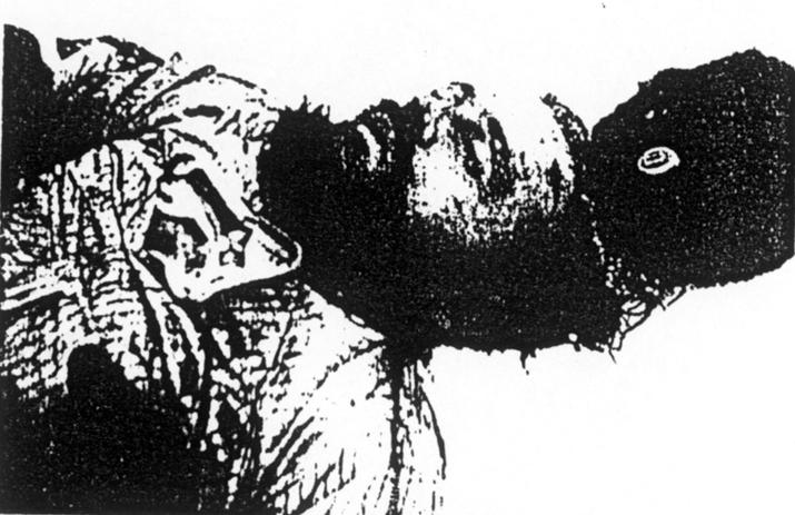 Слика убијеног капетана Лазаревића