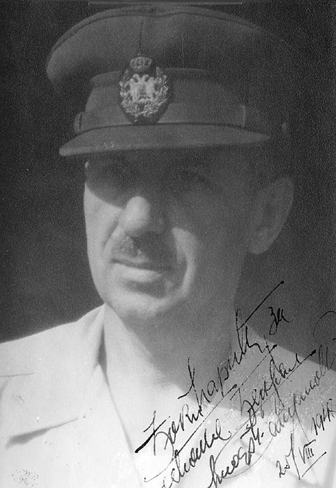 Генерал Миодраг Дамјановић. Ову слику посветио је Ђоки Марићу, а Ђоко Марић је поклонио ''Погледима''