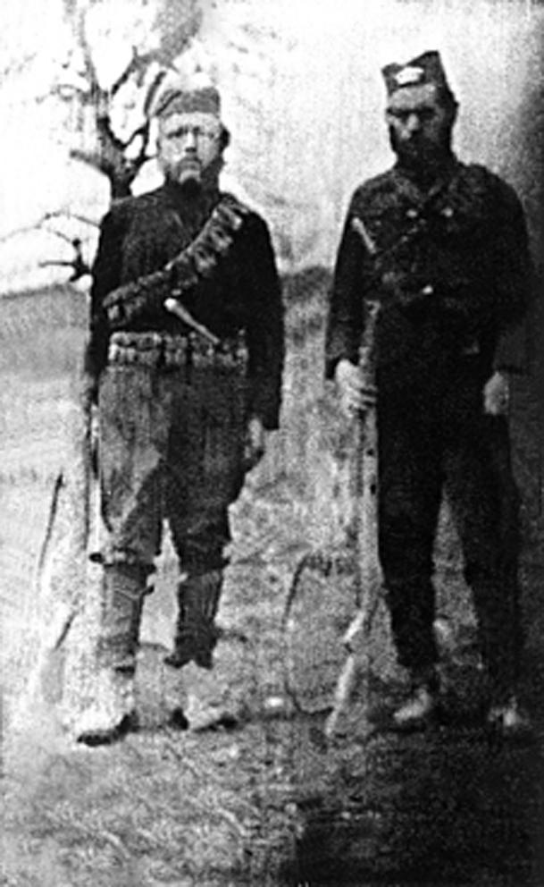 Марјан Блажејчик и Станислав Раставички у слободним српским планинама