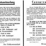 На неким плакатима објављено је стрељање четника и комуниста